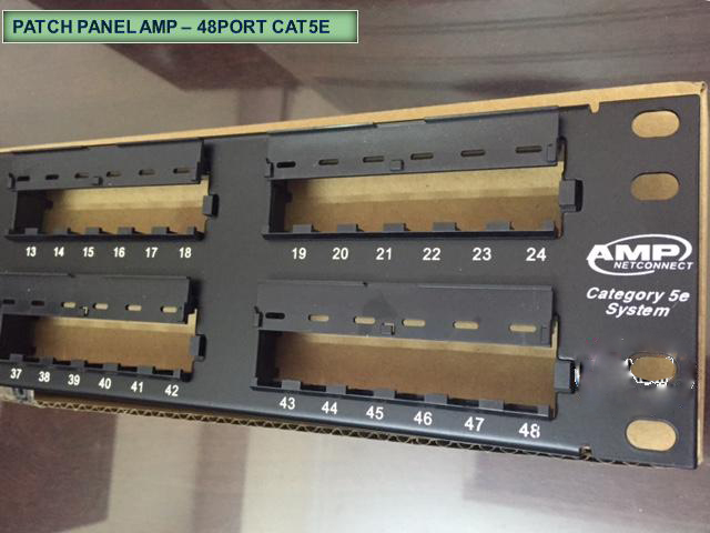 Patch panel AMP 48 port CAT5e chính hãng | PN: 1479155-2